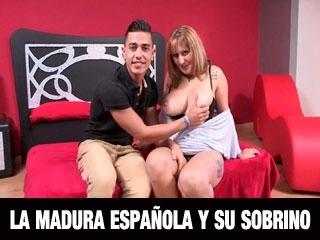 Nueva MADURA TETONA. Inicia en el porno amateur a su sobrino de 19: Alucinante Madura.